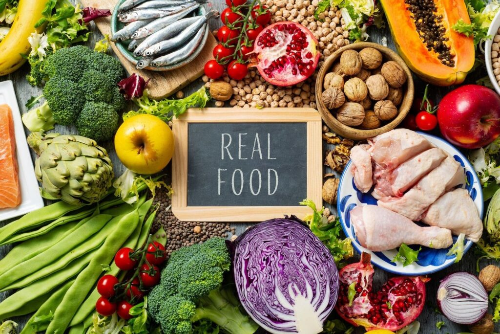 Dieta equilibrada comida real