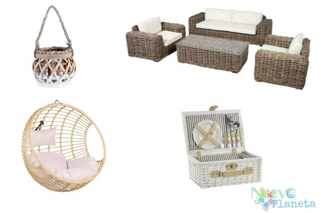 Muebles de mimbre para terraza